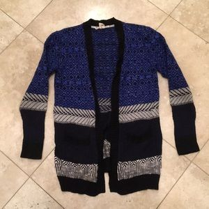 Blue and Black Roxy Cardigan